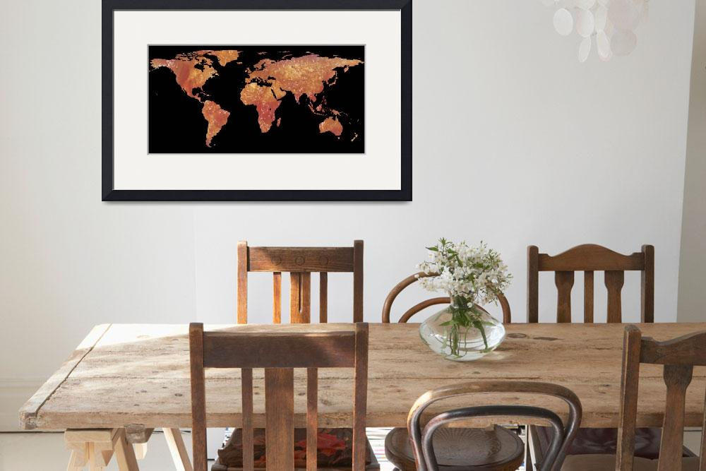 """""""World Map Silhouette - Crispy Bacon""""  by Alleycatshirts"""