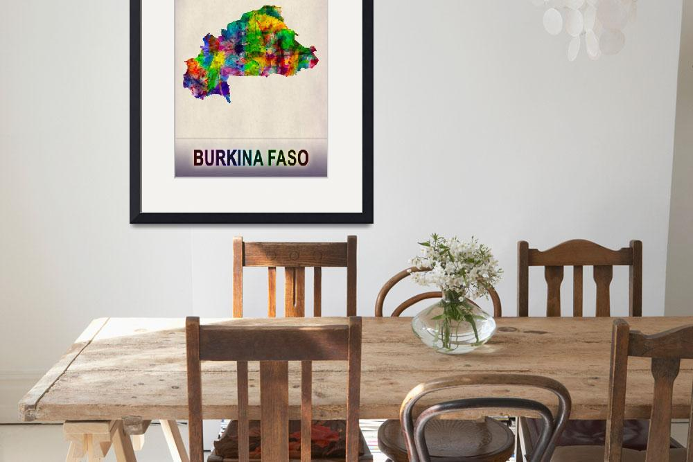 """Burkina Faso Map""  by Towseef"