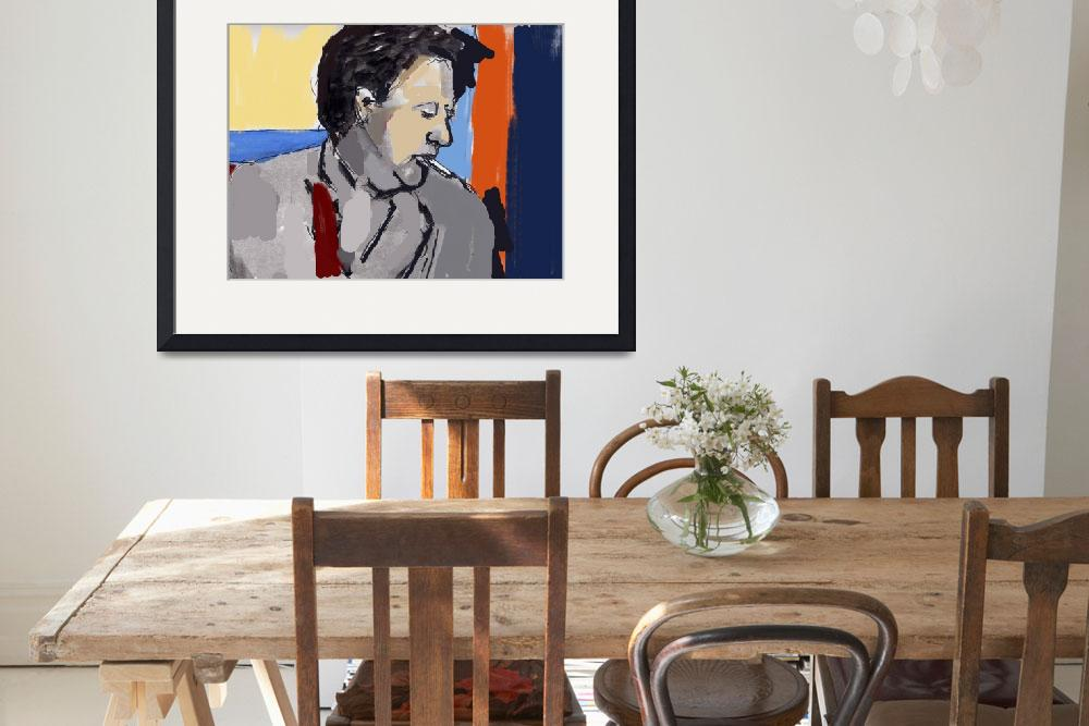 """""""Dylan Thomas""""  (2016) by WesleyRhodesART"""