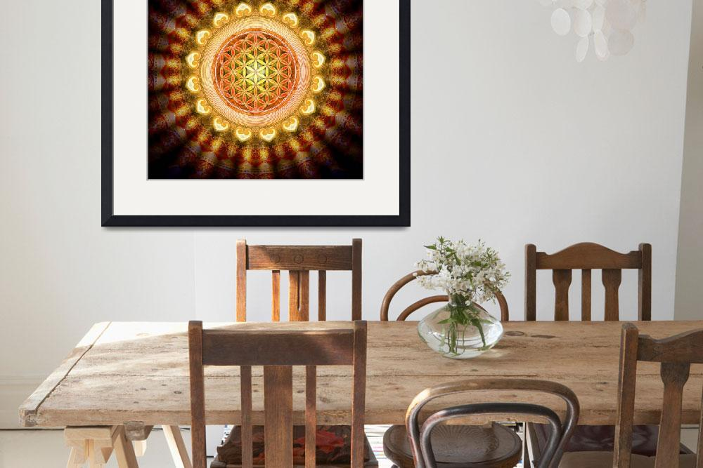 """""""Flower Of Live - Artwork Sun 1&quot  by dcz"""
