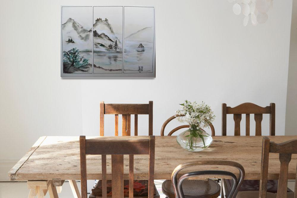 """Oriental Triptych""  (2012) by AMVaughn"