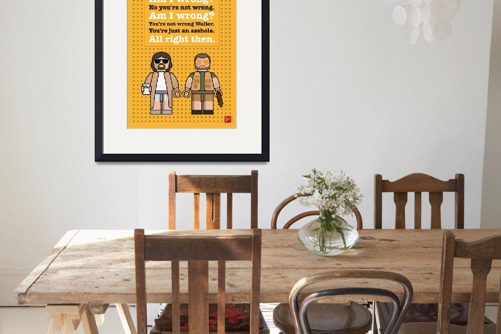 """""""My The Big Lebowski lego dialogue poster&quot  by Chungkong"""