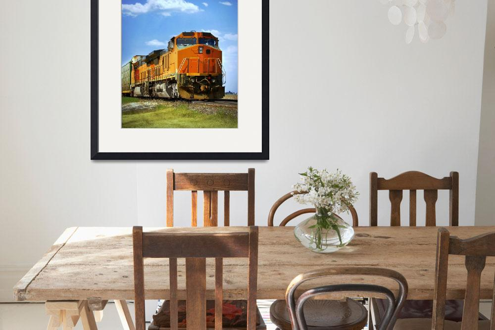 """Orange Freight Train&quot  (2007) by threestripes"