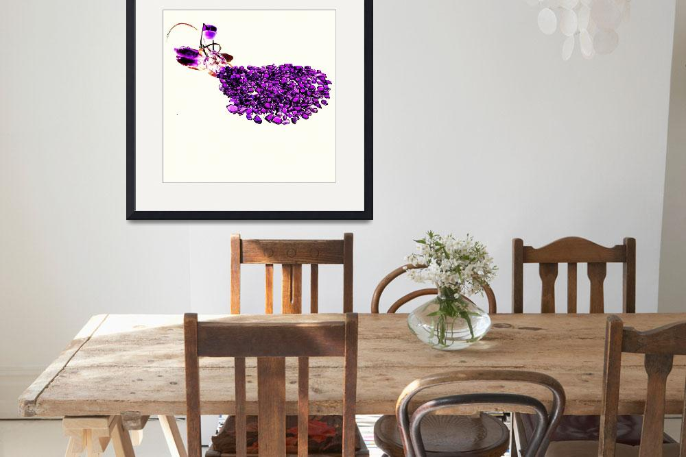 """""""Purple Beach Glass Spill&quot  (2015) by eastcoasttreasures"""