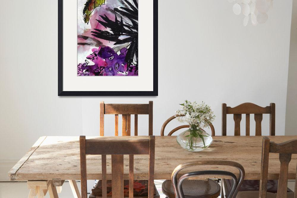 """""""Abstract Floral Black and Lilac&quot  (2015) by GinetteCallaway"""