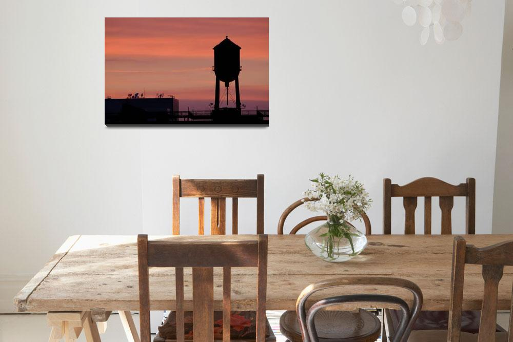 """""""Sunset Watertower""""  by brookenp"""