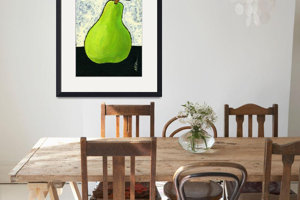 """Green Pear&quot  (2010) by JanetNelson"