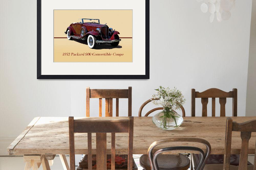 """1932 Packard 900 Convertible Coupe w/ID&quot  by FatKatPhotography"