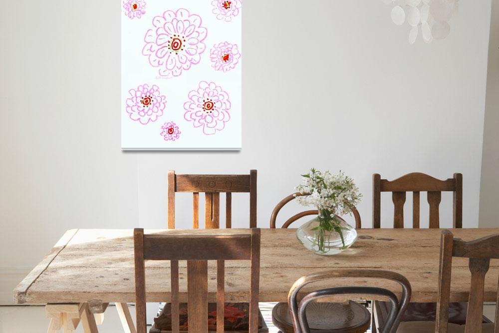"""Palm Beach pink flowers&quot  by RDRiccoboni"