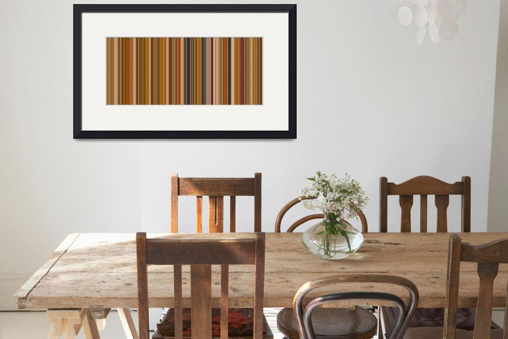 """Mocha Bean Stripes: Abstract&quot  by karynlewis"
