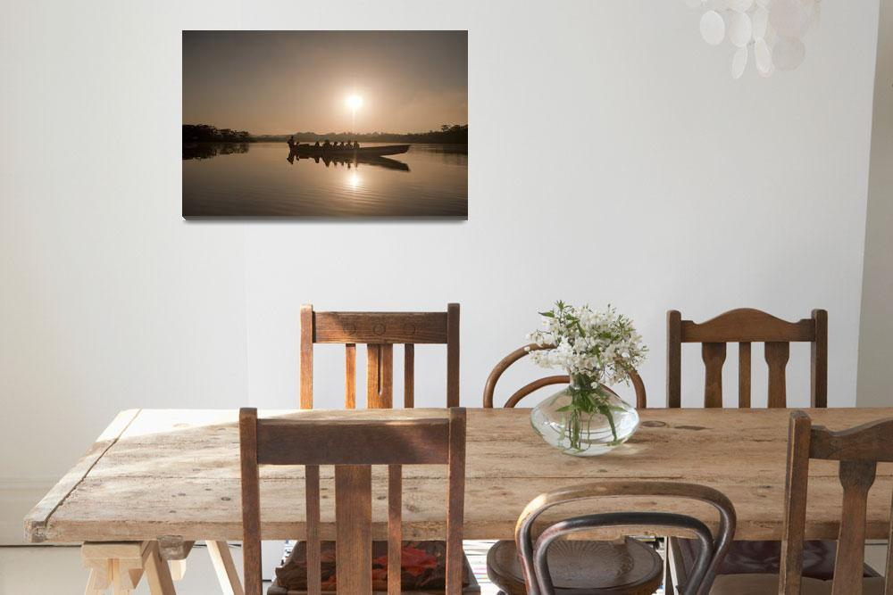 """Laguna Grande Dugout Canoe at Sunrise""  (2010) by SederquistPhotography"
