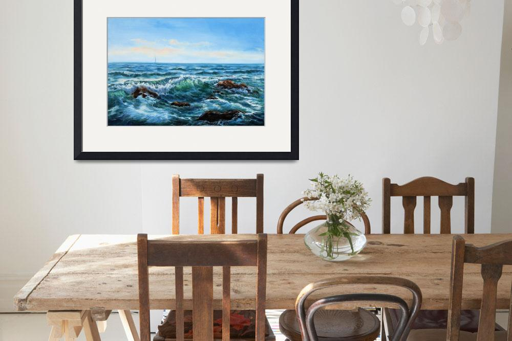 """""""Original oil painting showing waves in  ocean or s&quot  by boyan"""