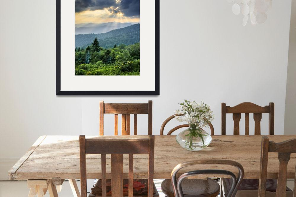 """""""August Rays - Blue Ridge Mountains""""  (2010) by DAPhoto"""