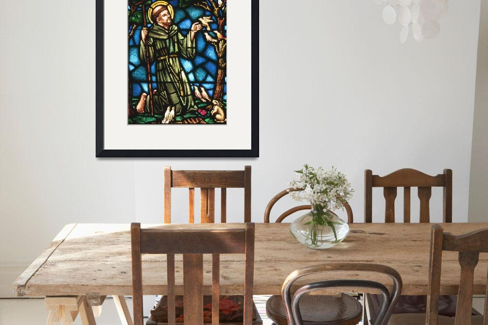"""""""St Francis of Assisi in stained glass&quot  (2004) by neilepi"""