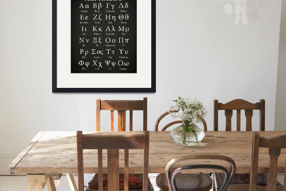 """The Greek Alphabet&quot  by mark-rogan"