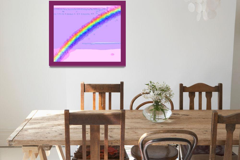 """Rainbow with border""  (2013) by TheNorthernTerritory"