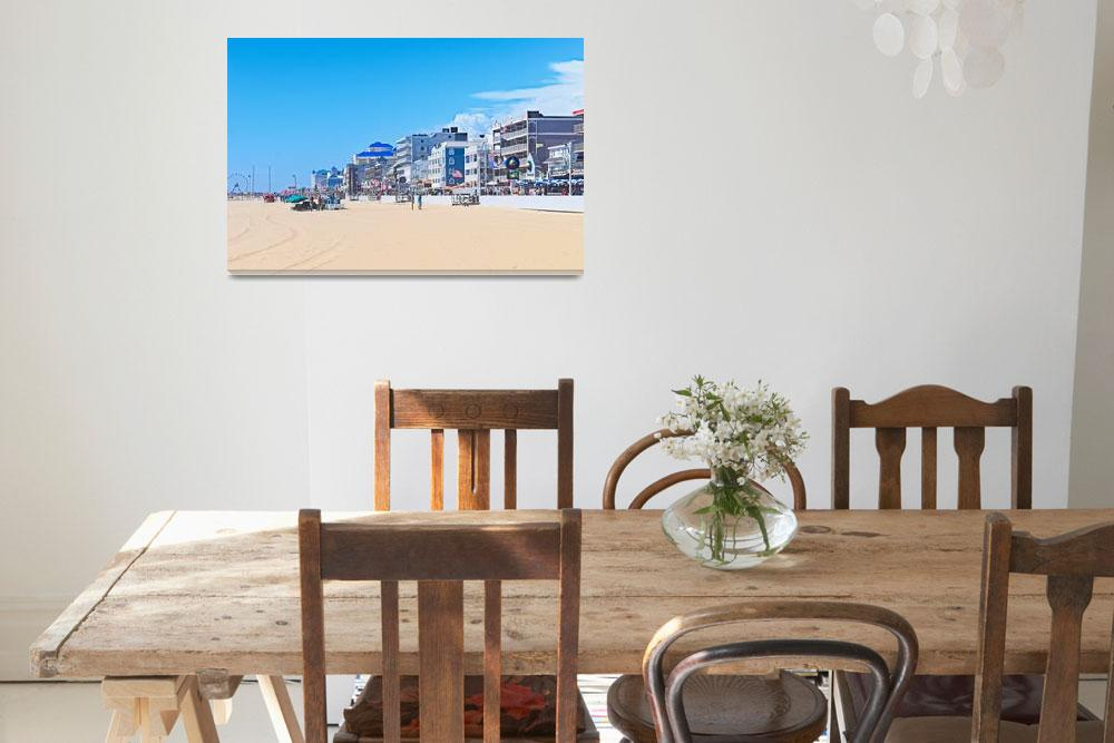 """""""Sunny Day on the Beach in Ocean City, Maryland""""  (2018) by DougSwanson"""