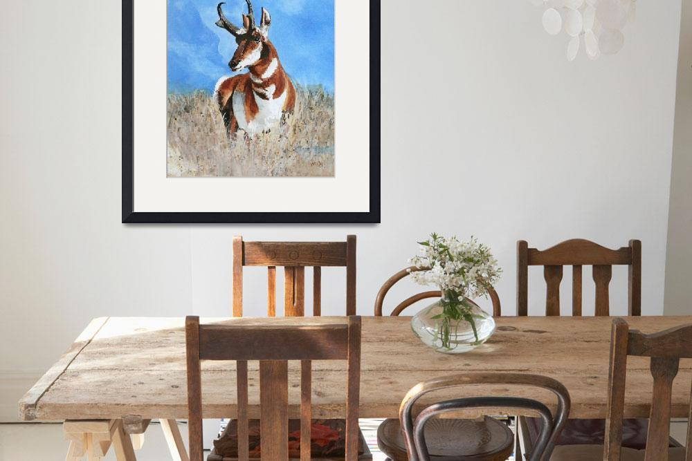 """""""American Pronghorn&quot  (1999) by wallacebrazzeal"""