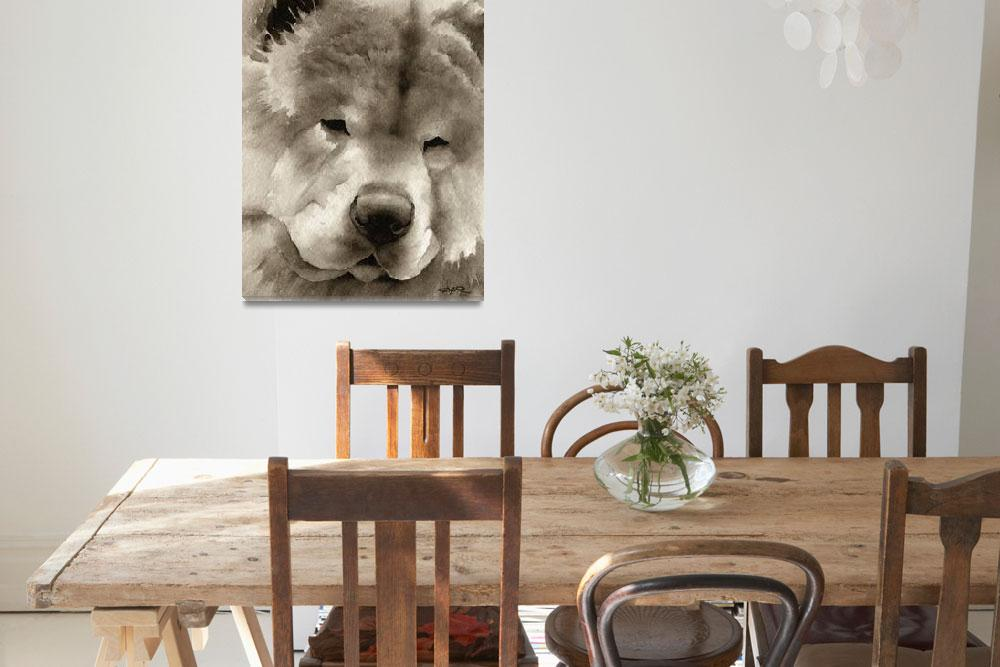 """""""Chow Chow&quot  (2010) by k9artgallery"""