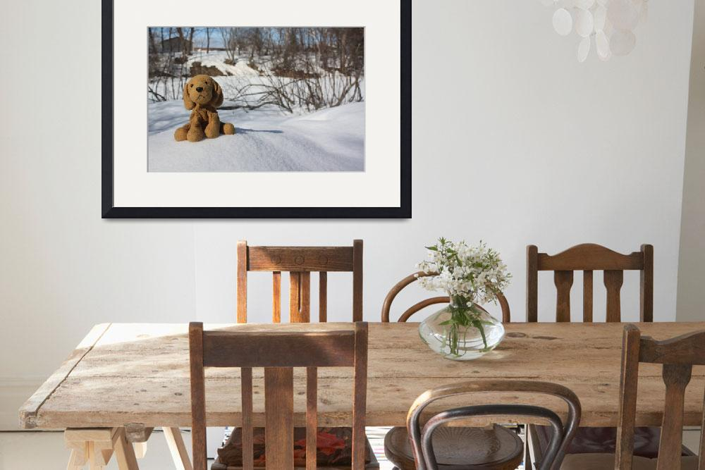 """""""Dog in snow&quot  (2010) by Albertphoto"""