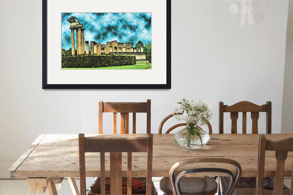 """""""Xanten, Archeological Park, Temple Reproduction&quot  (2009) by billbarber"""