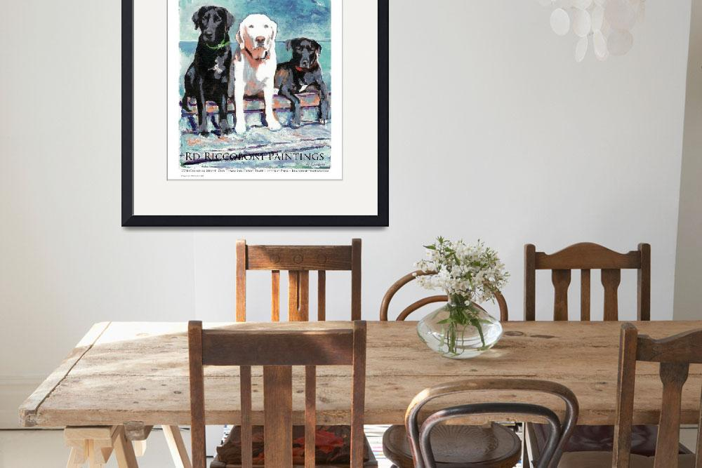 """""""Three Dogs Gallery poster&quot  (2013) by RDRiccoboni"""