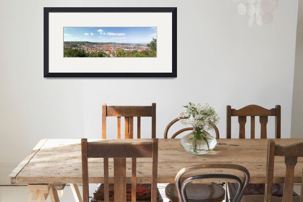 """""""Buildings in a city Stuttgart Baden Wurttemberg G&quot  by Panoramic_Images"""