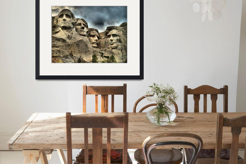 """Mount Rushmore, South Dakota in HDR""  (2012) by DryFlyPhotograhy"