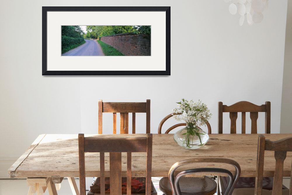 """""""Brick Wall and Curved Road UK&quot  by Panoramic_Images"""