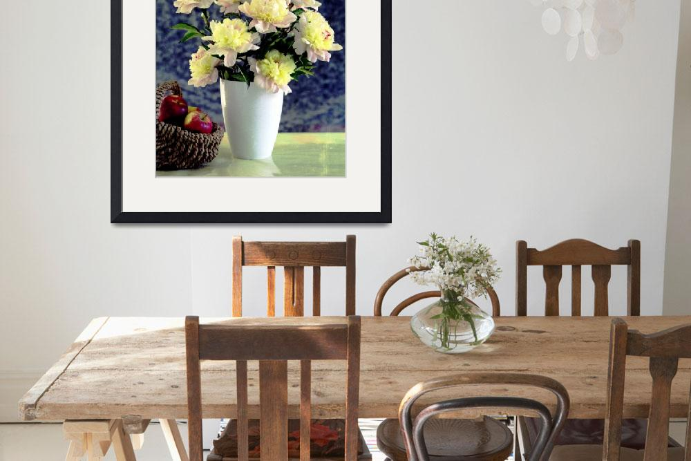 """""""Yellow peonies and apples&quot  by gmart"""