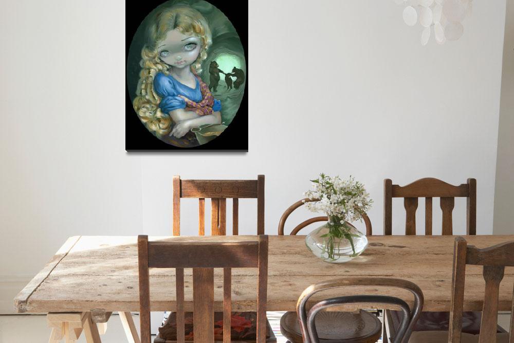 """Portrait of Goldilocks""  (2012) by strangeling"