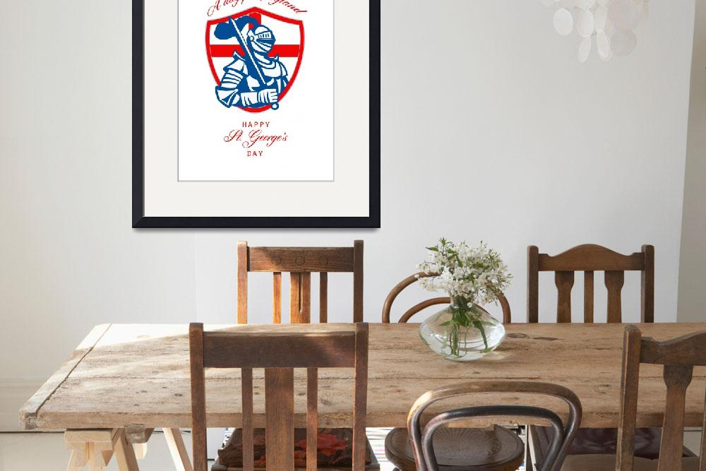 """Happy St George A Day for England Greeting Card&quot  (2014) by patrimonio"