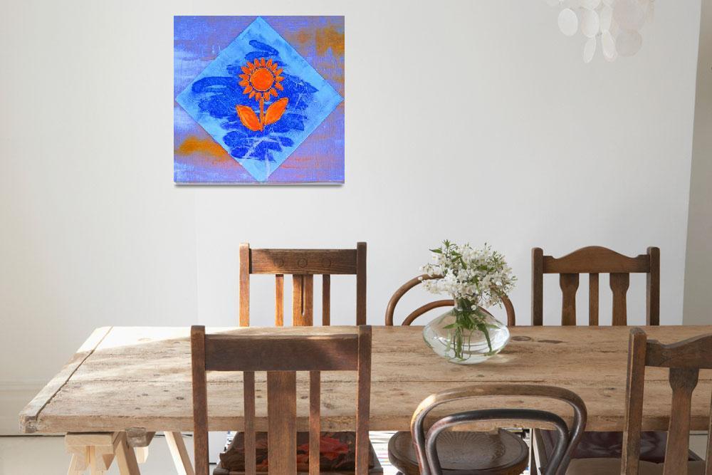 """""""Orange Sunflower""""  (2012) by Jami"""