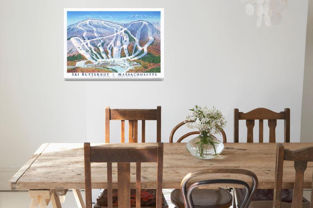 """Ski Butternut, Massachusetts&quot  (2011) by jamesniehuesmaps"
