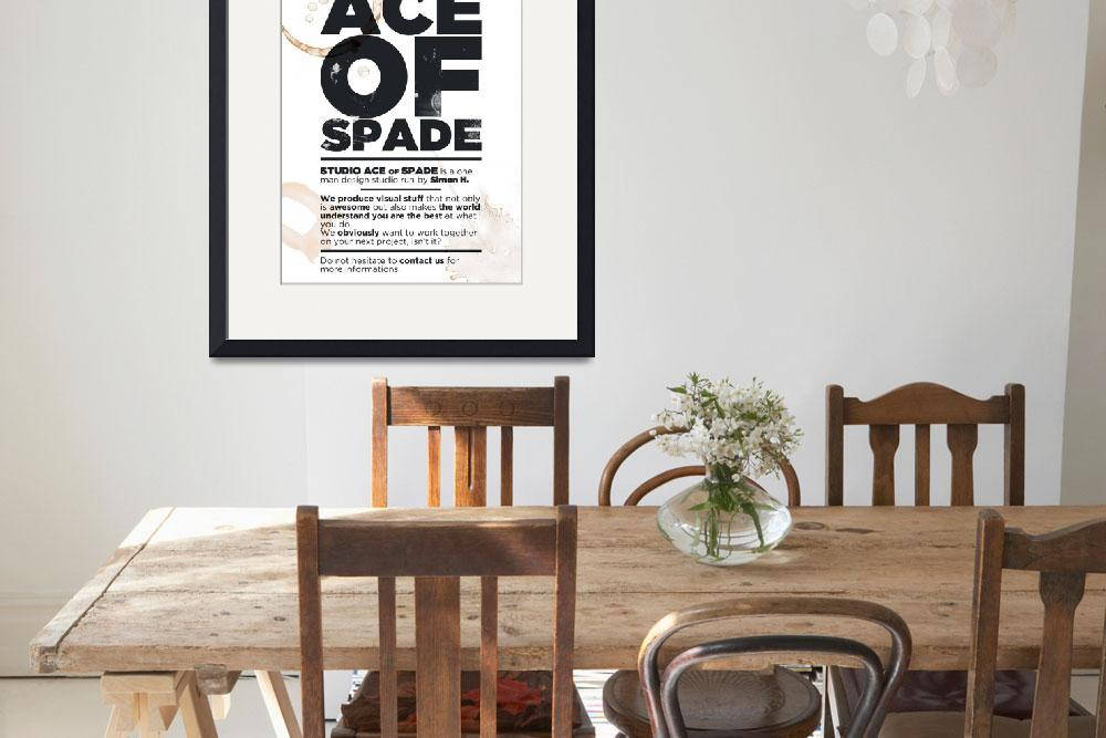 """""""Studio Ace of Spade - Monthly poster series 02.10&quot  (2010) by simonh4"""