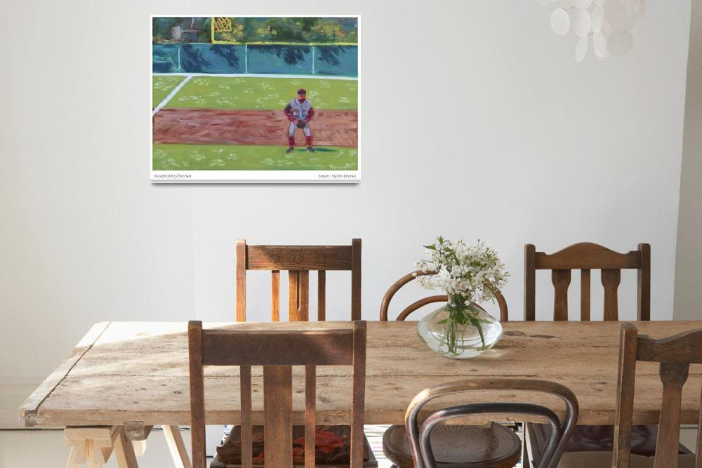 """""""Baseball-by-the-Sea&quot  by SusanPayneTrutna"""