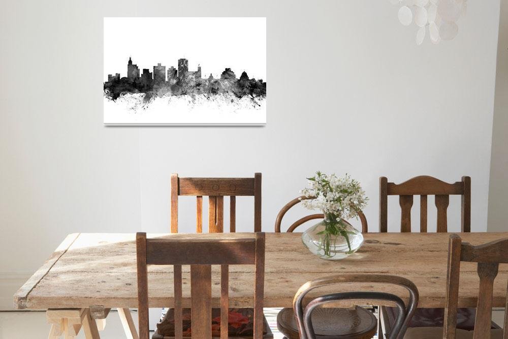 """Jackson Mississippi Skyline""  (2015) by ModernArtPrints"