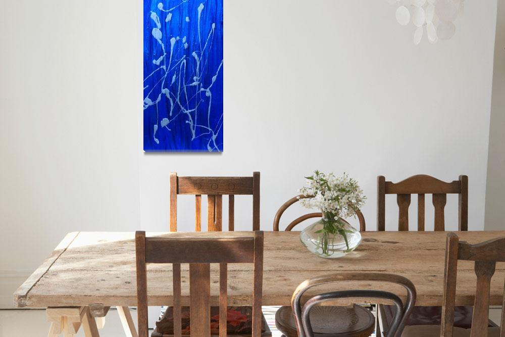 """""""Blue Abstract&quot  by LittleArtsyShop"""