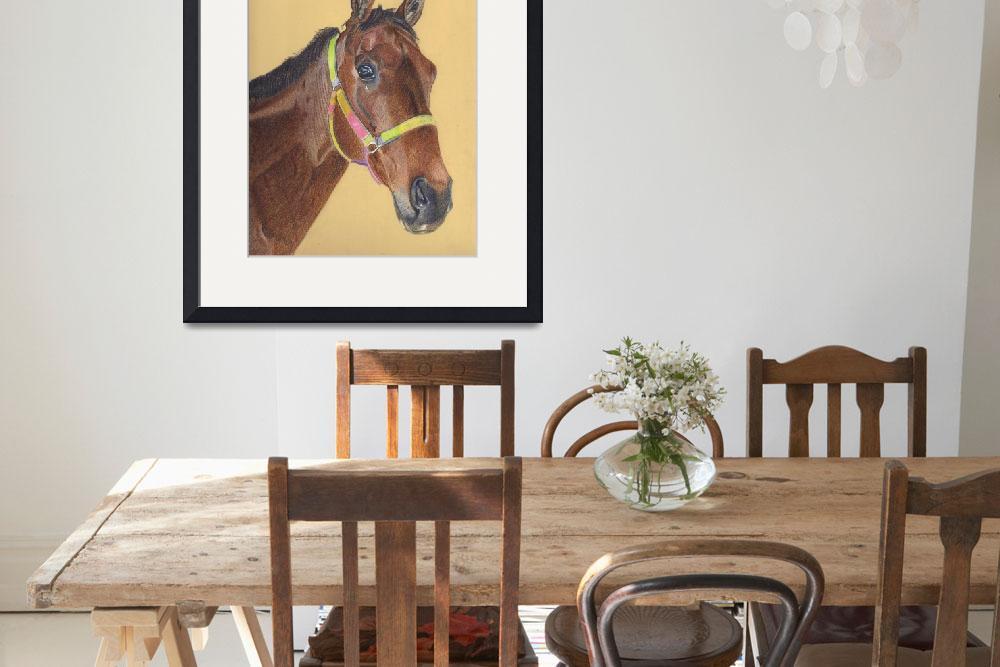 """Thoroughbred Horse Colored Pencil Art""  (2006) by PatriciaBarmatz"