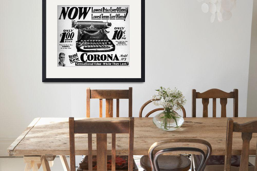 """Corona Typewriter advertisement 1931&quot  (1931) by arcaniumantiques"