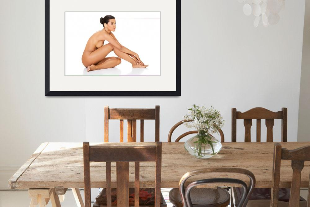 """""""Attractive naked woman sitting. Side view. Isolate&quot  by Piotr_Marcinski"""