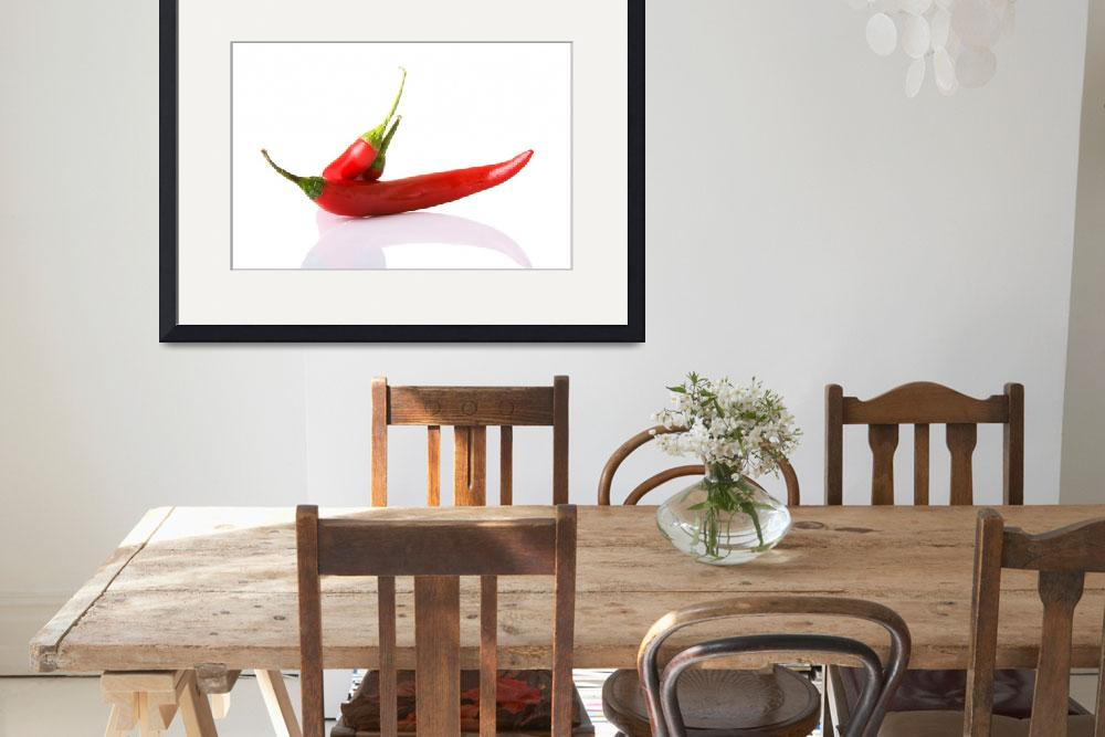 """""""Red hot chilie peppers, isolated on white&quot  by Piotr_Marcinski"""