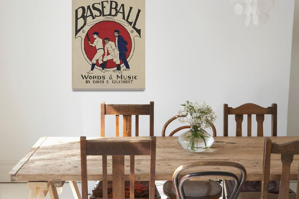 """Vintage Baseball Pitcher Illustration (1905)""  by Alleycatshirts"