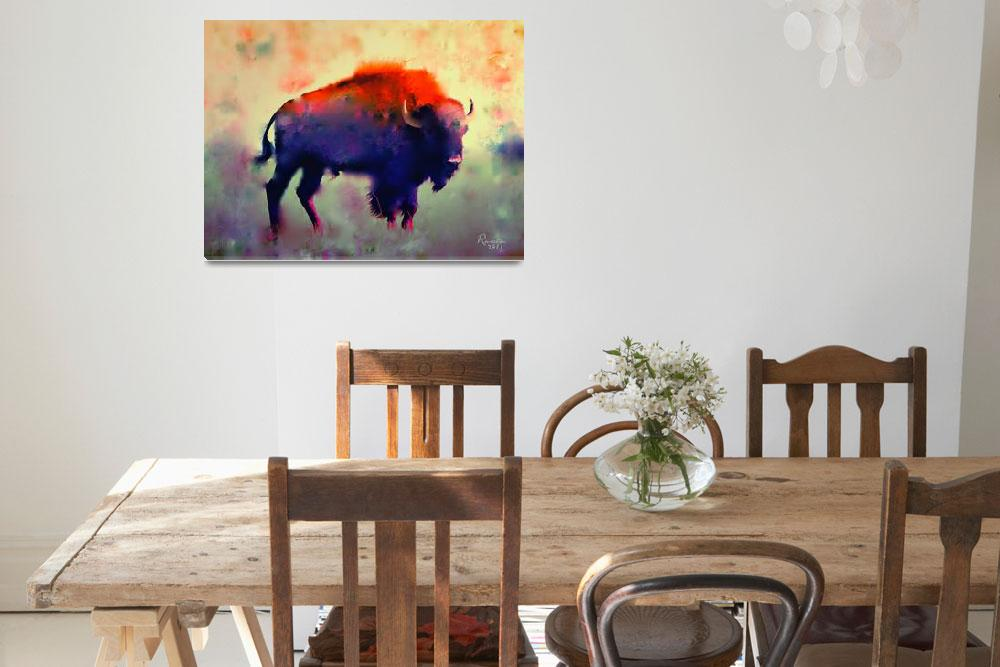 """""""Bison&quot  (2011) by rosalin"""