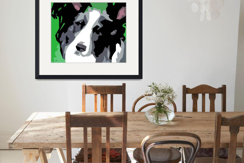 """""""Abstract Dog Art&quot  (2012) by waterart"""
