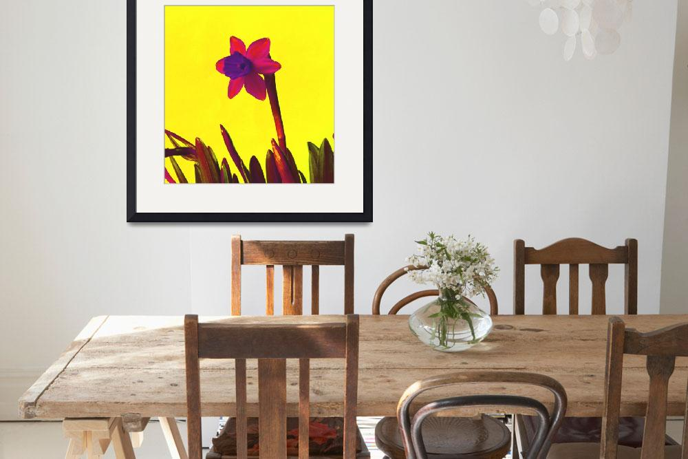 """""""Daffodil Pink with Orange&quot  (2015) by Saturato"""