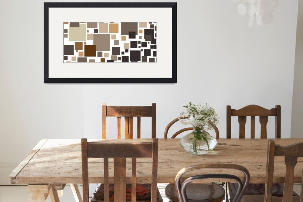 """""""Toffee Tiles: Abstract Art&quot  by karynlewis"""