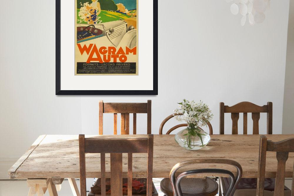 """Wagram Auto Vintage Poster""  by FineArtClassics"