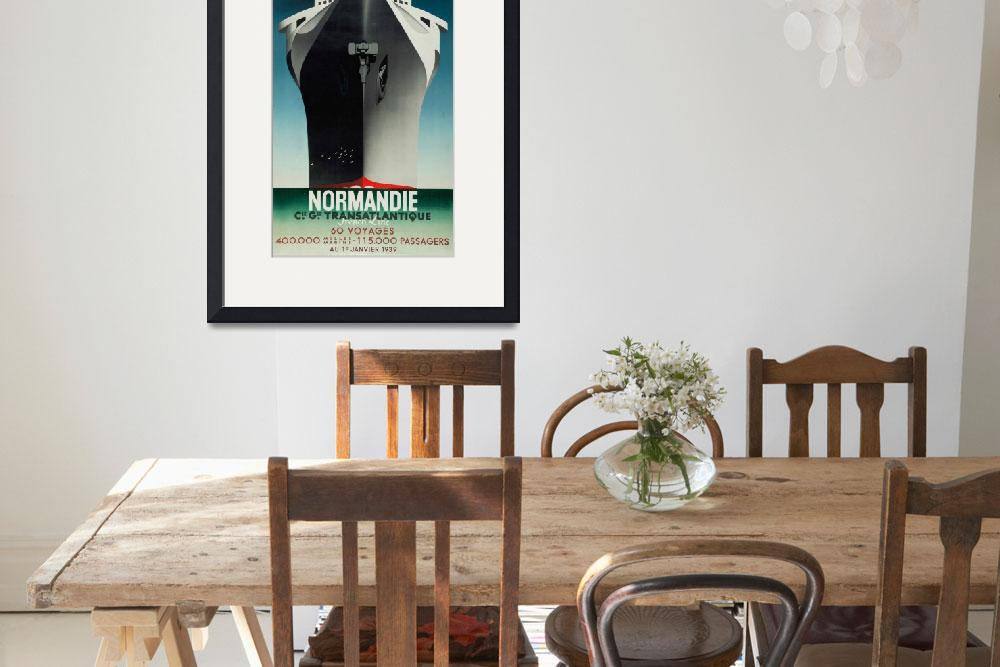 """""""Vintage poster - Normandie&quot  by mosfunky"""