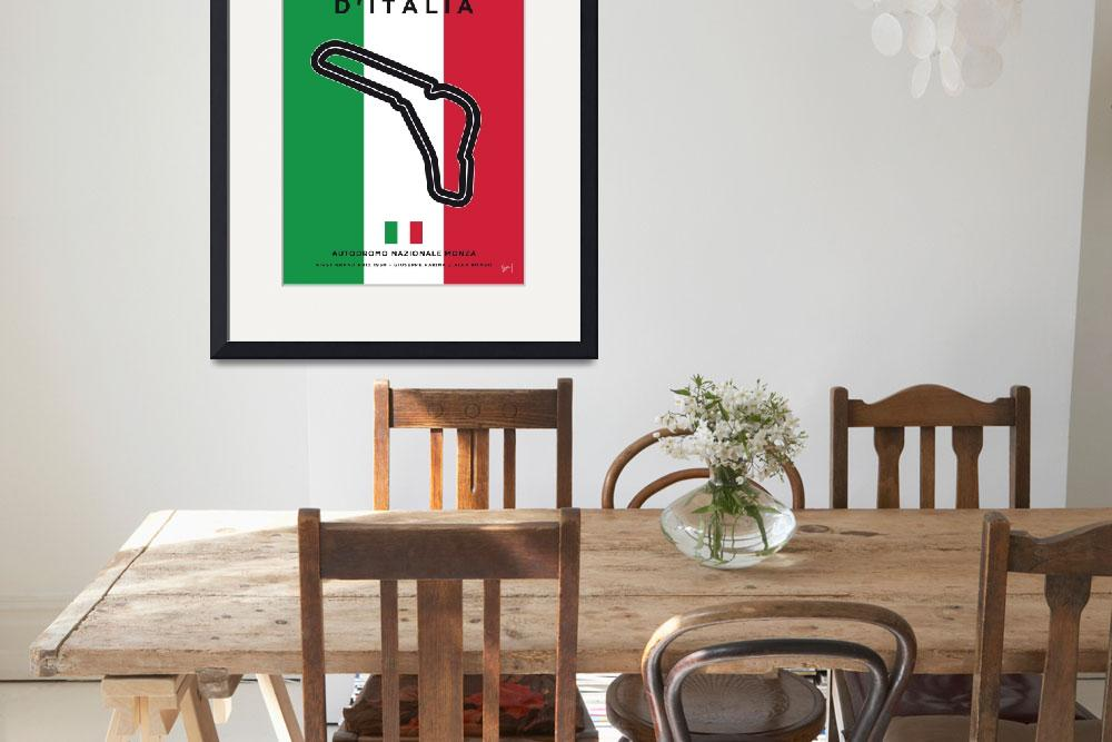 """""""My F1 MONZA Race Track Minimal Poster""""  by Chungkong"""
